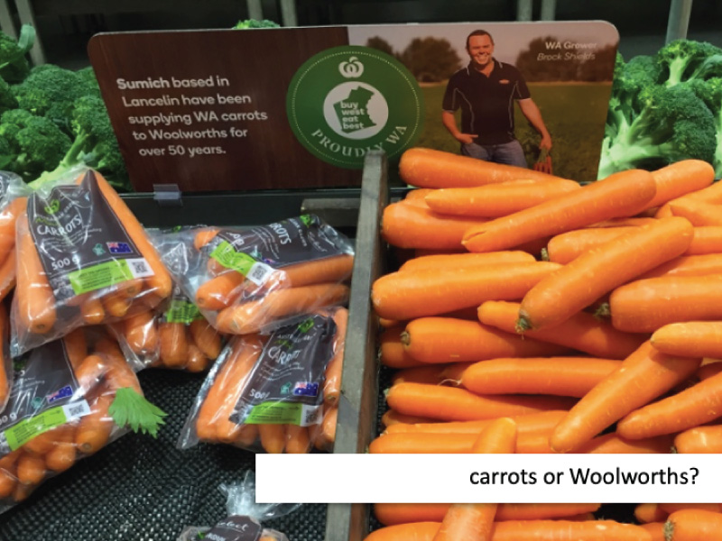 Carrots or Woolworths