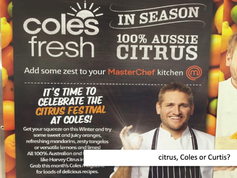 Curtis, Coles or CItrus?